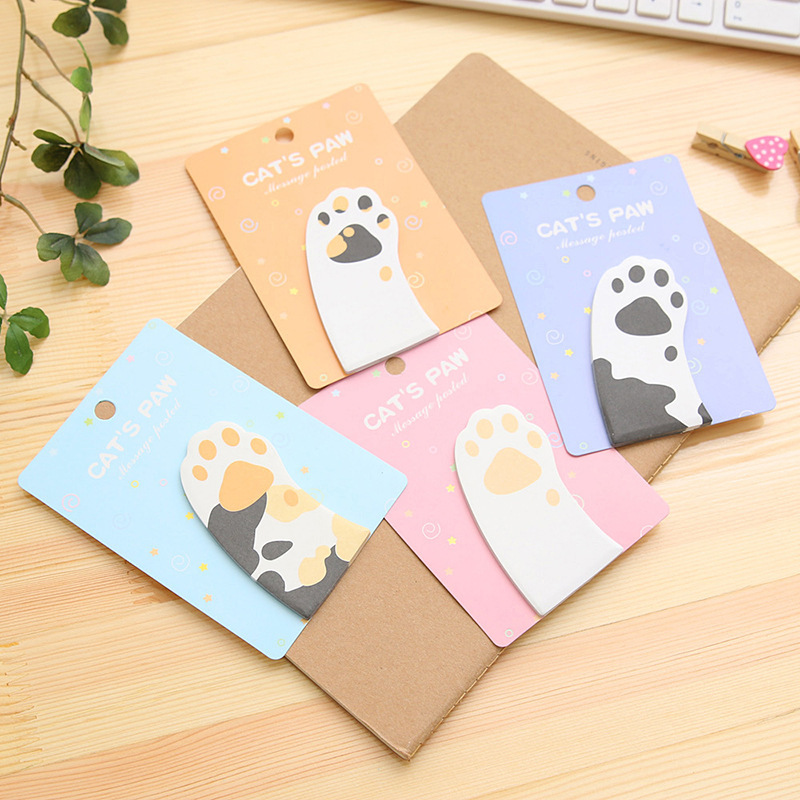 Colorful Butterfly Sticker Post It Bookmark Memo Sticky Note Pad Source · Cute Cat s Paw