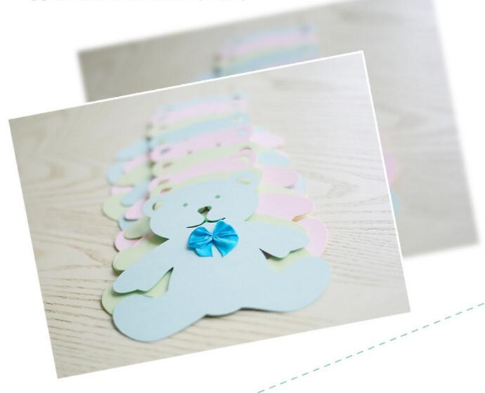 Lovely Bear Rabbit Baby Shower Birthday Party Bunting Flags Banner Decorations