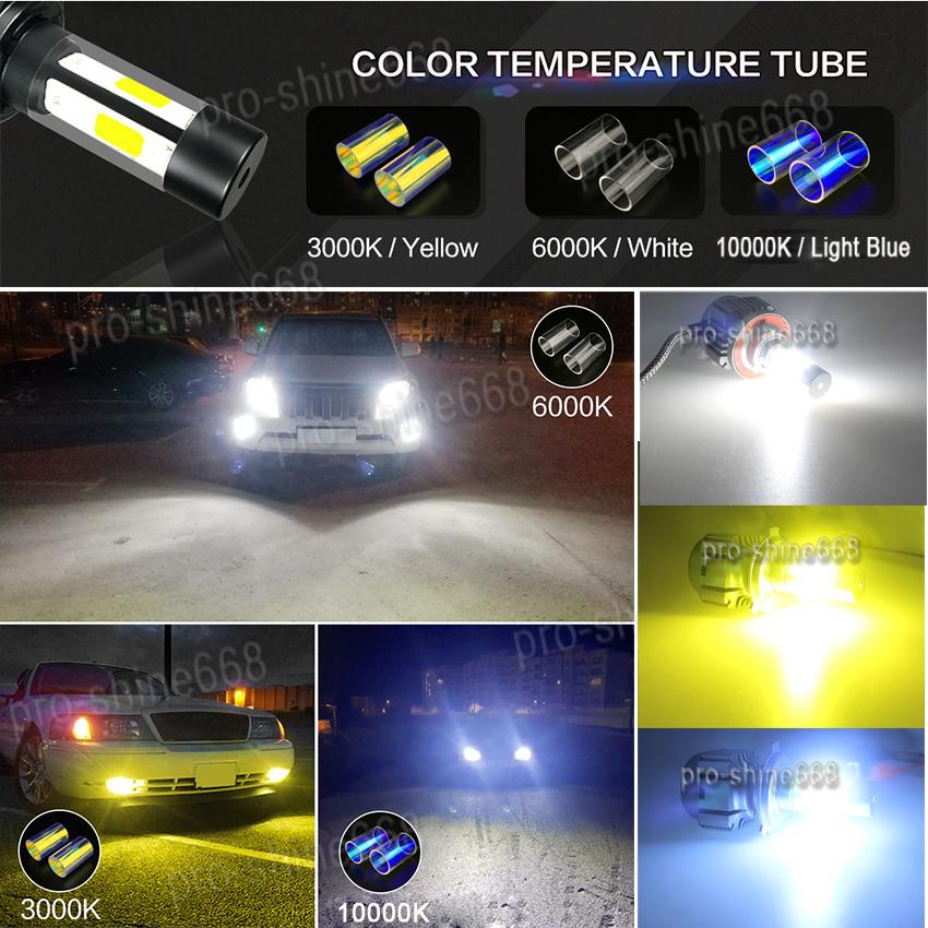 Super Bright H4 120W LED Car Headlight Conversion Kit 3000K 6000K 10000K Driver