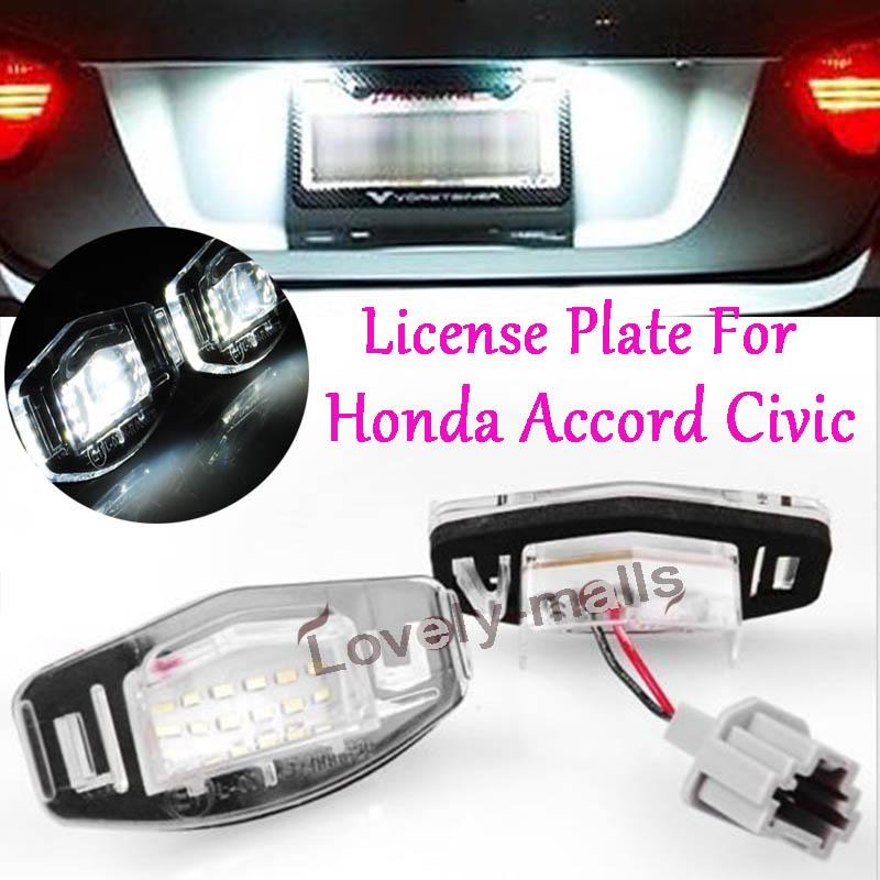 White LED LICENSE PLATE LIGHT For Acura TL TSX MDX Honda