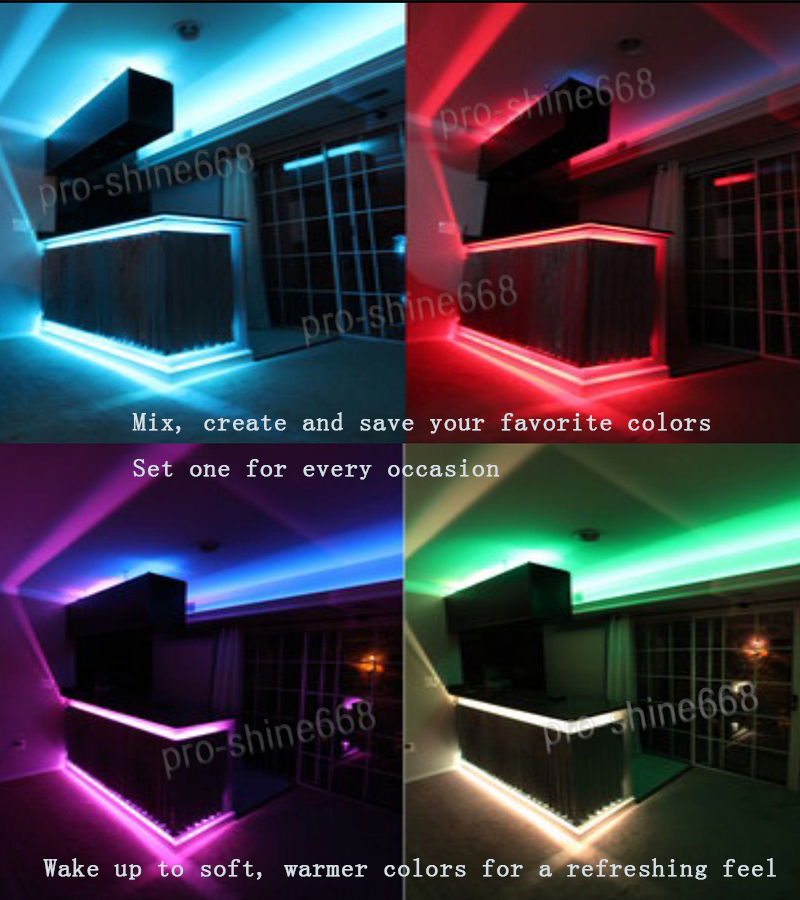 Kitchen under cabinet led glow rgb light strip 16ft smd 5050 remote kitchen under cabinet led glow rgb light strip aloadofball Image collections