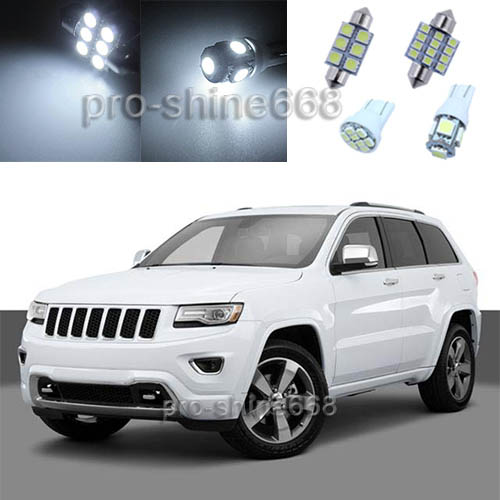 Xenon white led interior lights package for 2011 2015 - 2015 jeep grand cherokee led interior lights ...
