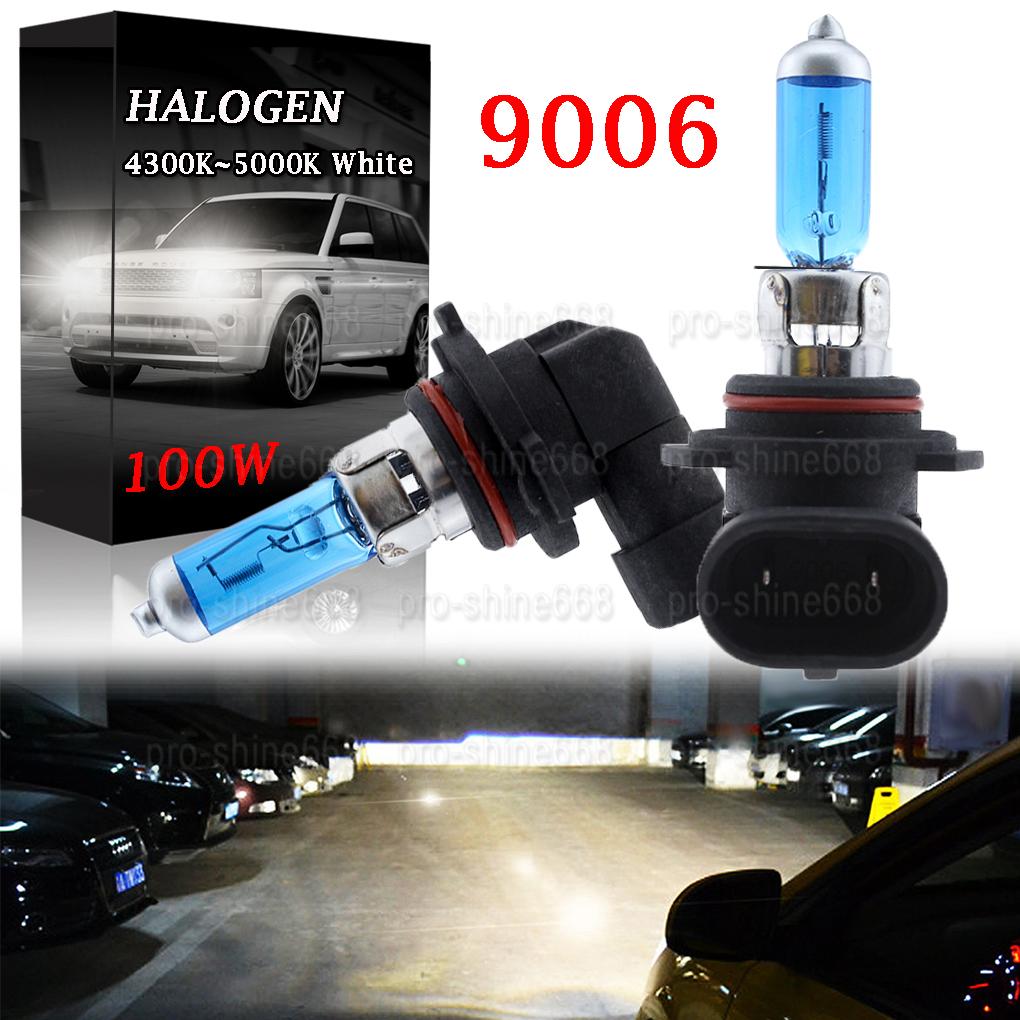 2Pcs Super White 5000K 9006//HB4 Headlight Low Beam Light Halogen Xenon HID Bulbs