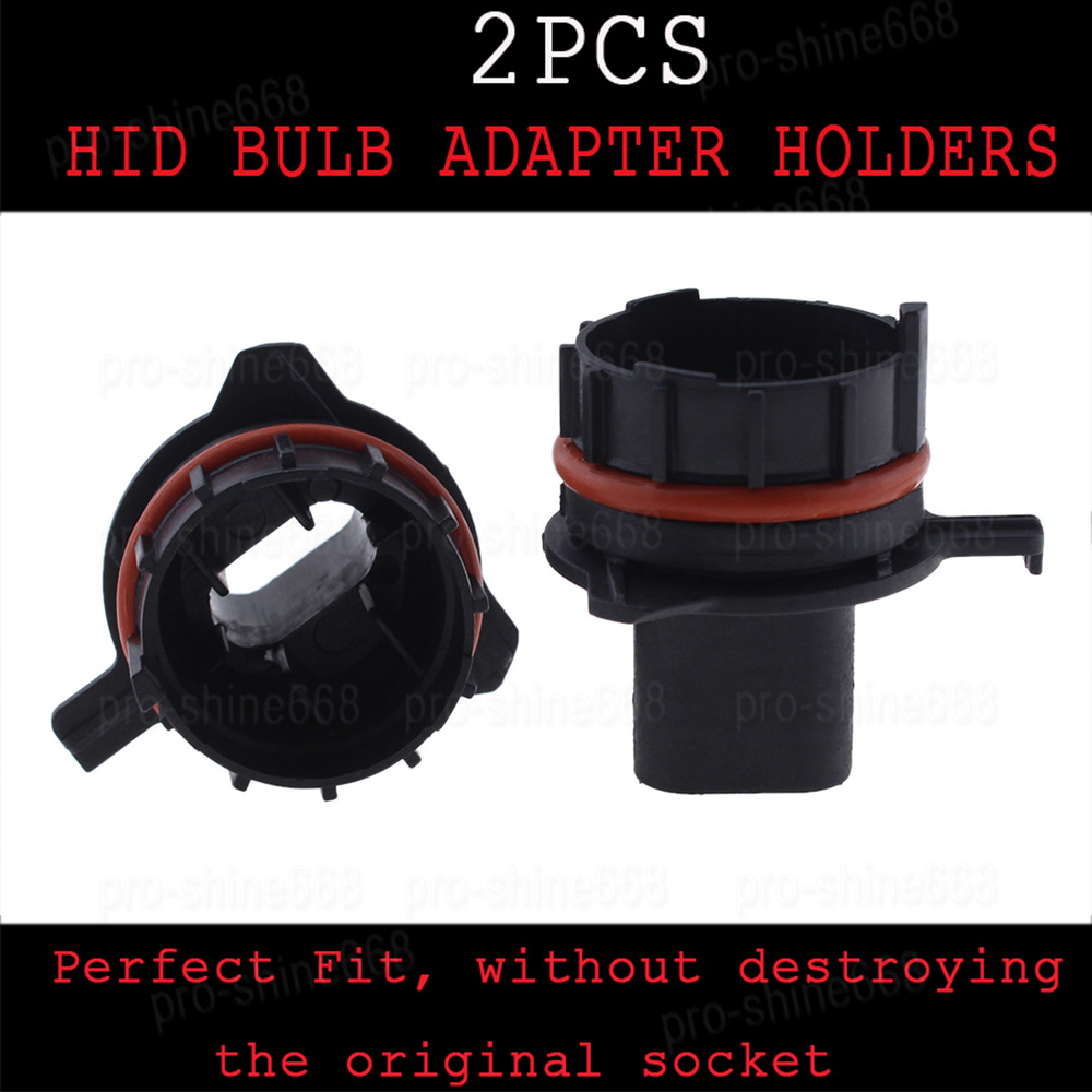 Aftermarket H7 HID Lights Bulbs Adapters Holders Converter For E39 5 Series