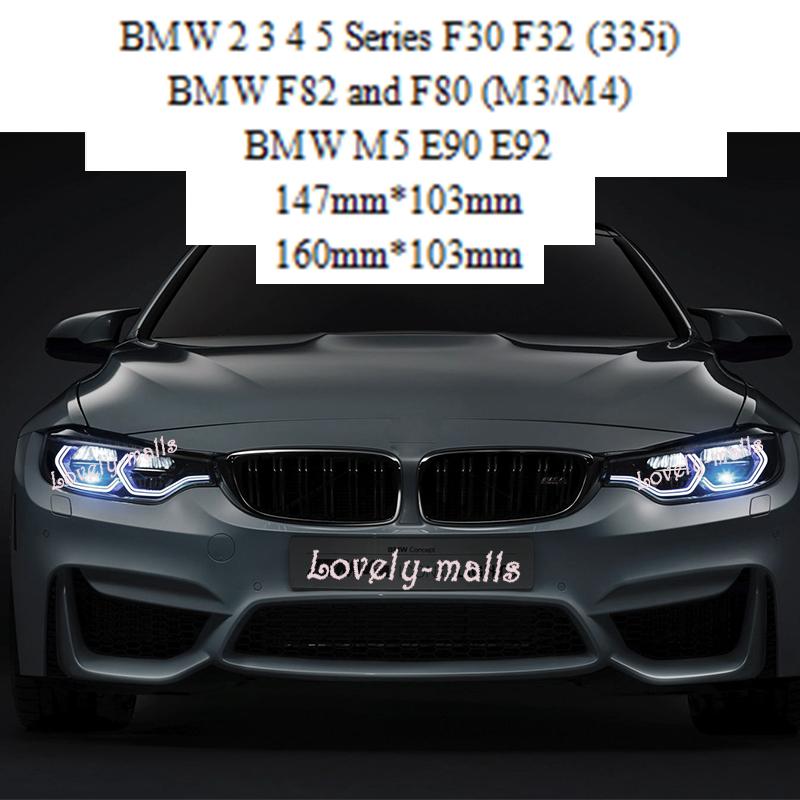 Angel Eye LED RING HEADLIGHTS KIT White Amber For BMW M3