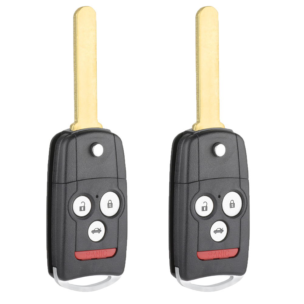 Pair Replacement Remote Key Fob 4 Button For Acura TL TSX