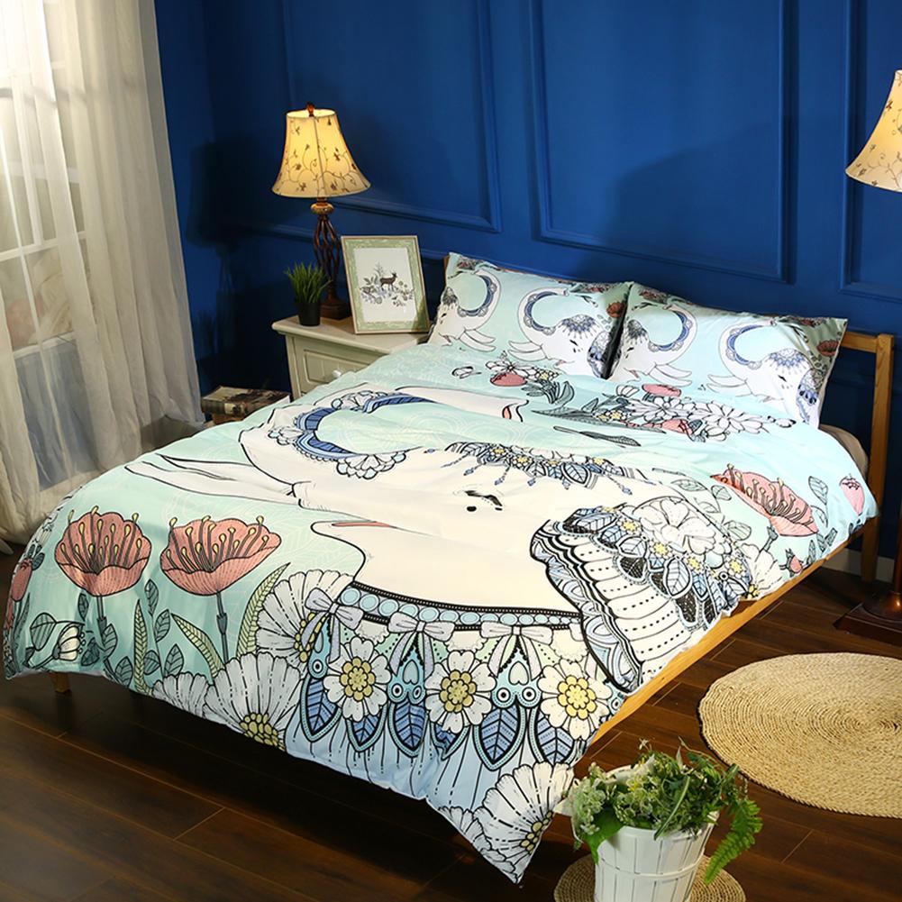 mandala bedding cover colorful elephant boho india duvet quilt covers queen king ebay. Black Bedroom Furniture Sets. Home Design Ideas