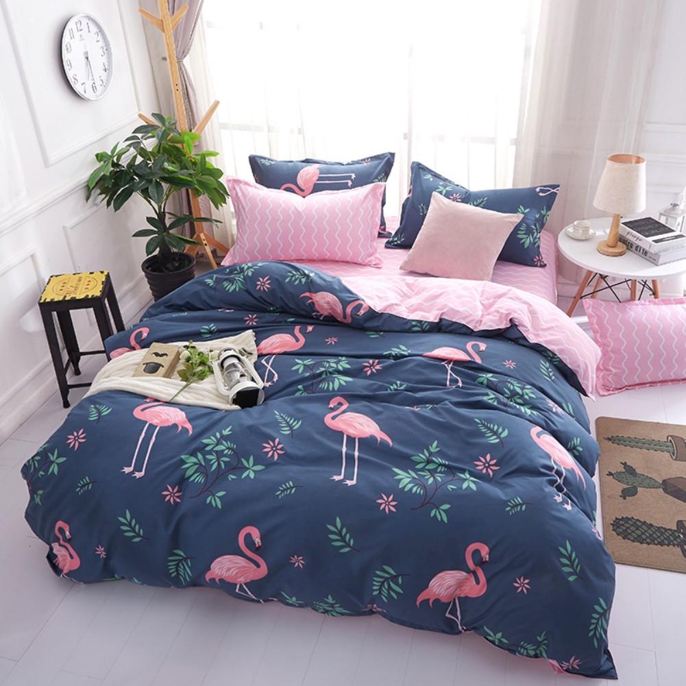 Unicorn Flamingo Bed Pillowcases Quilt Cover Duvet Cover