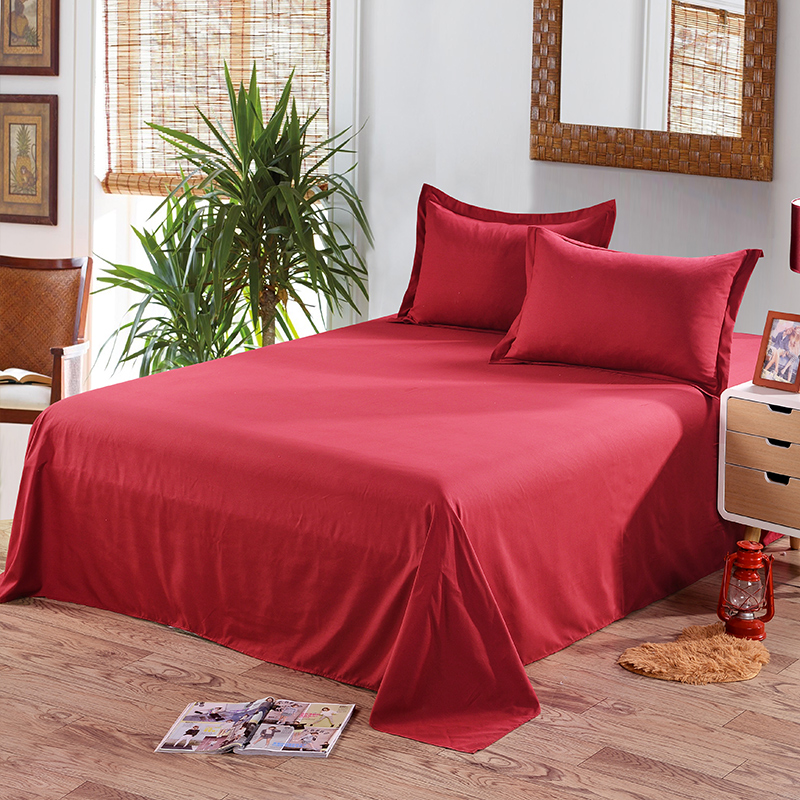 Queen-Twin-Full-Size-Bed-Sheets-Flat-Sheet-Cover-Pillow-Case-Comfort-Solid-Color