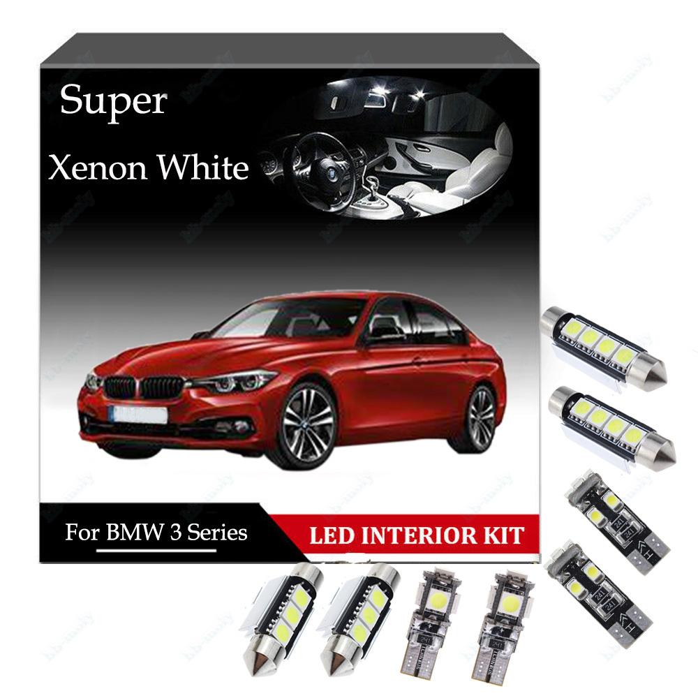 Fits BMW 3 Series E91 320i White 6-SMD LED 39mm Festoon Number Plate Light Bulbs