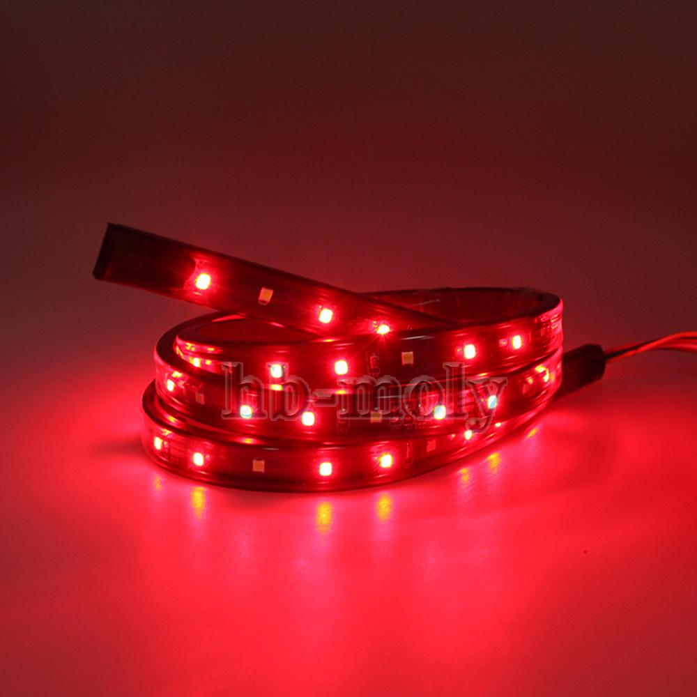 150cm LED Car Red/&White Strip Rear Trunk Tail Lights Streamer For Brake/&Turn 12V