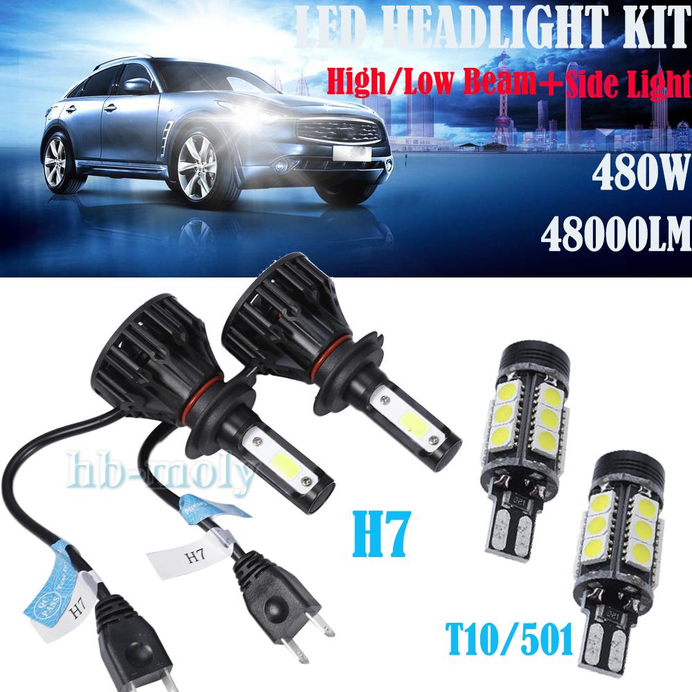 2 X H7 100w Super White Xenon Upgrade Headlight Bulbs Set 499 12v Full//dipped