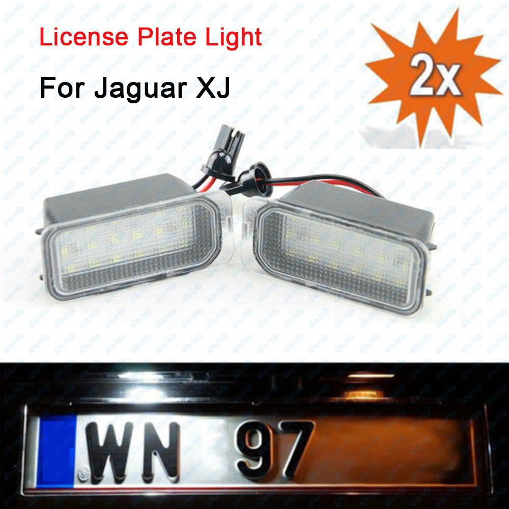 2x Jaguar XJS Bright Xenon White LED Number Plate Upgrade Light Bulbs