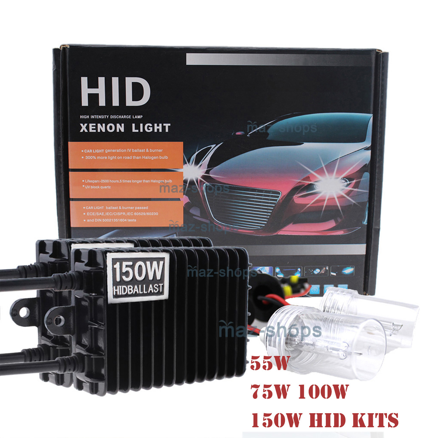 150W High Power HID Xenon Kit For Acura NSX RSX MDX TLX