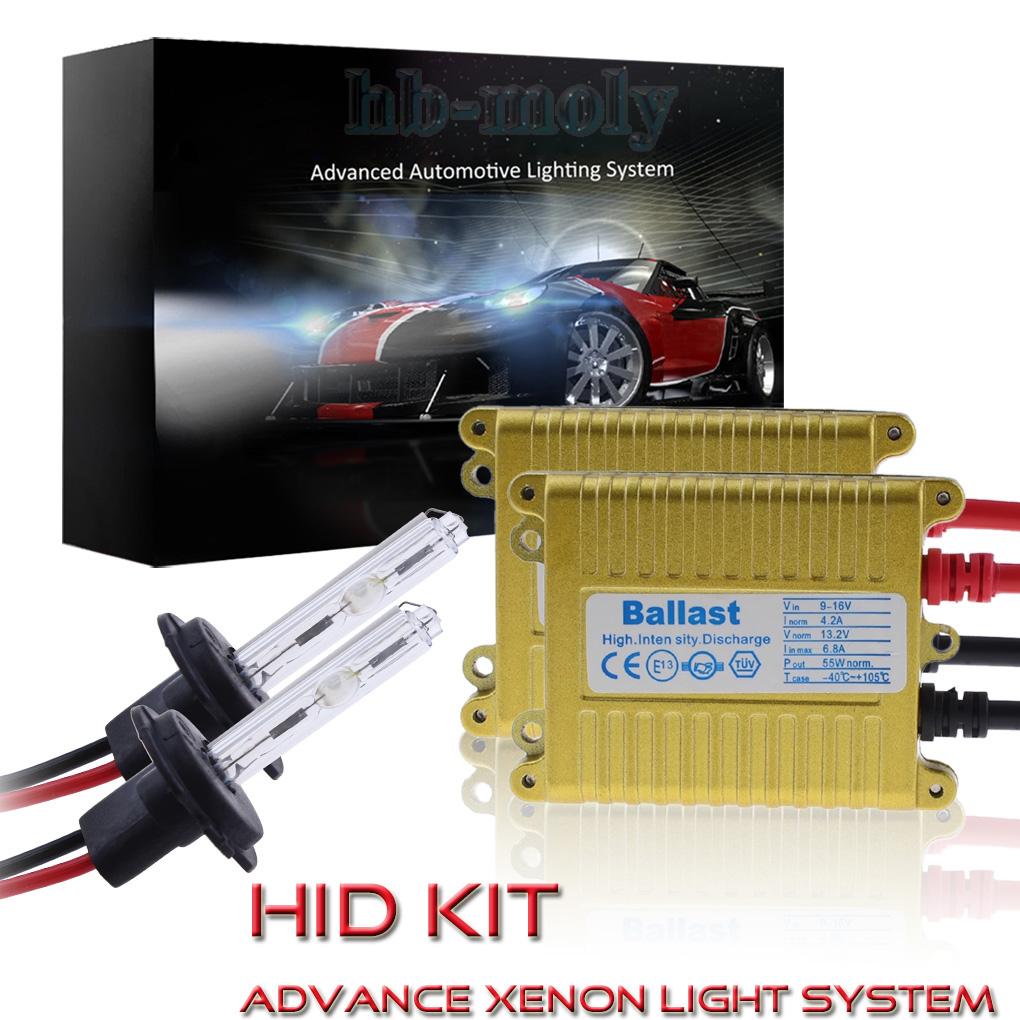 Autofather 55W HID Kit Xenon Headlight Conversion Light All Bulbs Sizes Colors