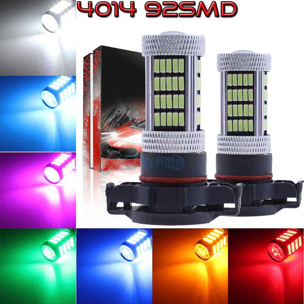 NEW 2x 4014 92SMD LED Bulbs Kit Fog Light Super Bright HID Xenon White 9005 9006