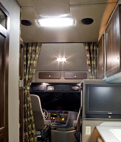 2pcs White Interior 1156 Led Panel Sleeper Cab Light For