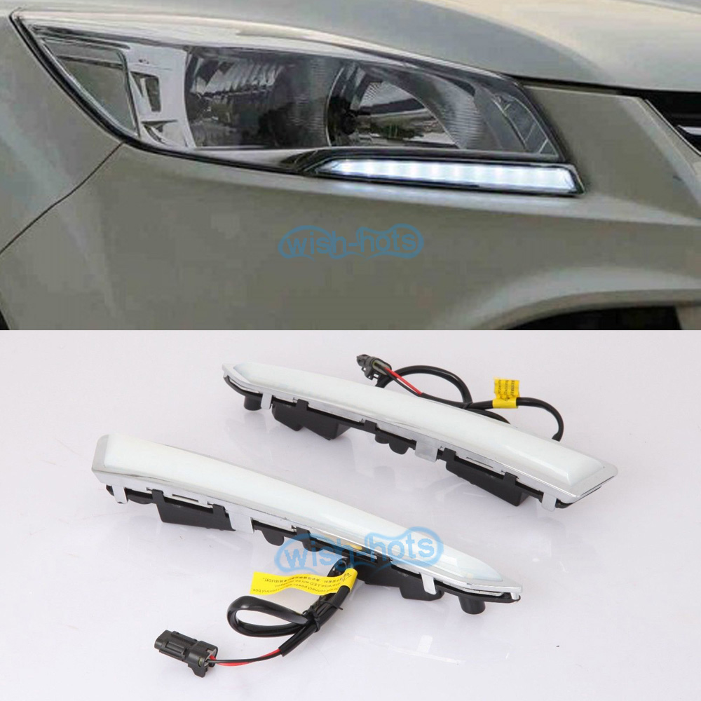 DRL Daytime Running Lights Driving Fog Lamps For Ford