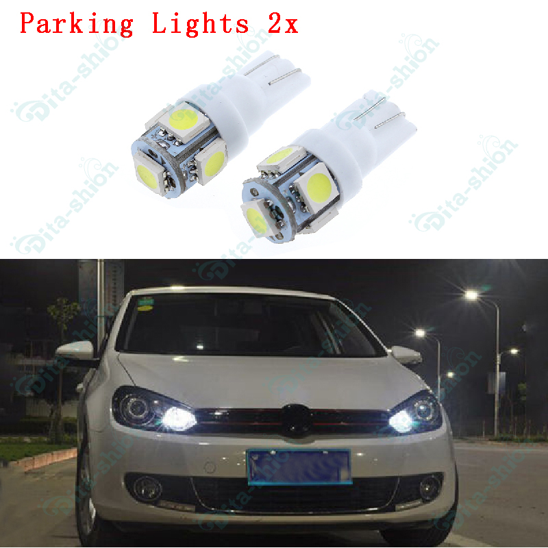 Details about White T10 W5W LED Parker Parking Lights Globes For Ford  Falcon AU BA BF FG -2pcs