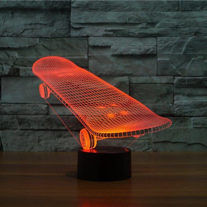 Details About Sport Skateboard 7 Color Usb Led Touch Table Night Lights Bedroom Lamp Gift