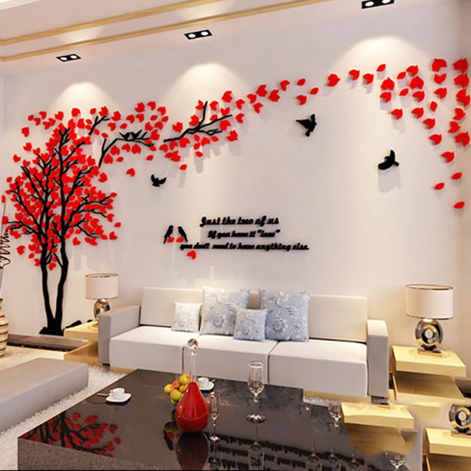 Superb ... 3D DIY Creative Couple Tree Decal Wall Sticker Removable Art Mural Room  Décor 119