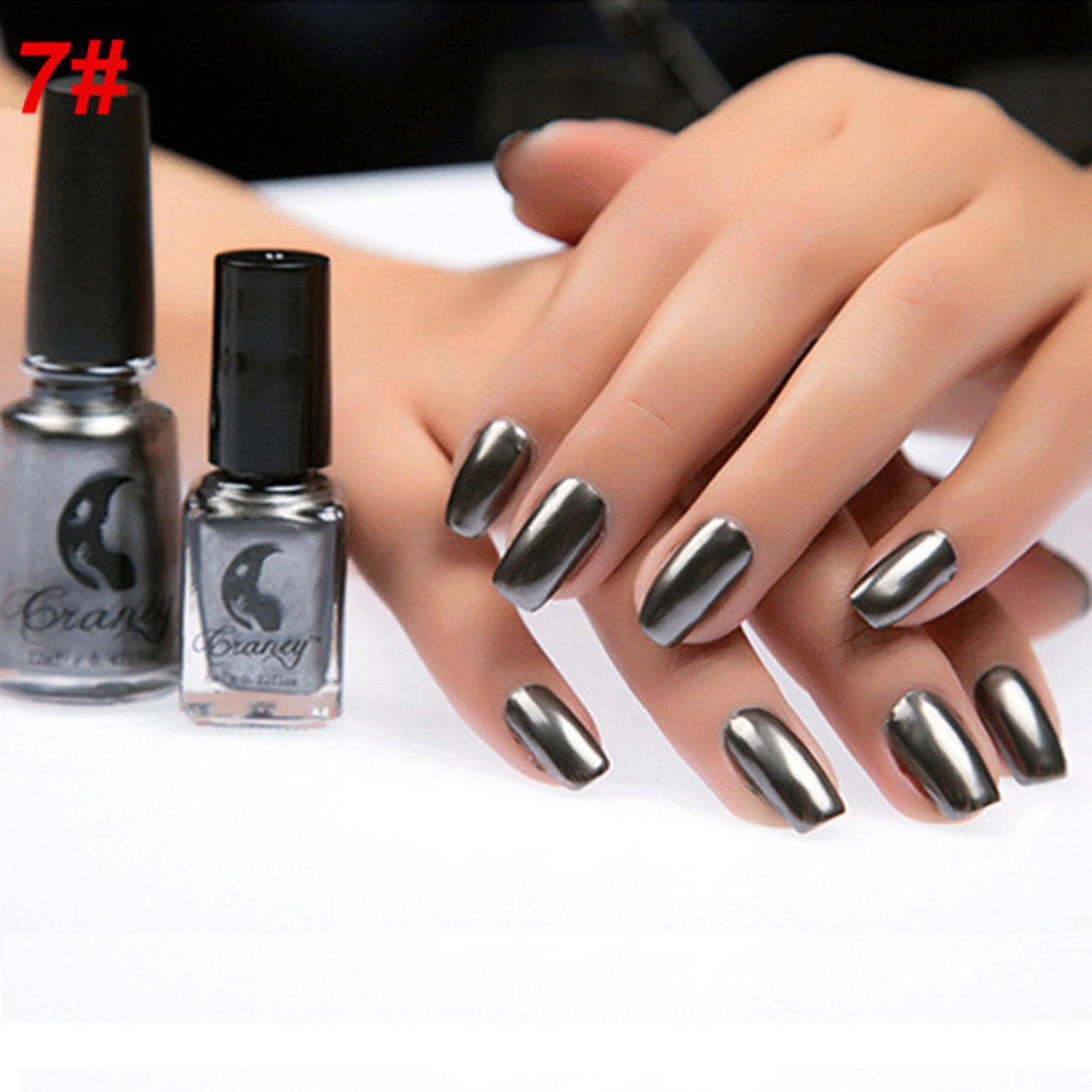 US Magic Nail Polish Mirror Effect Chrome Metallic Metal Nail Art ...