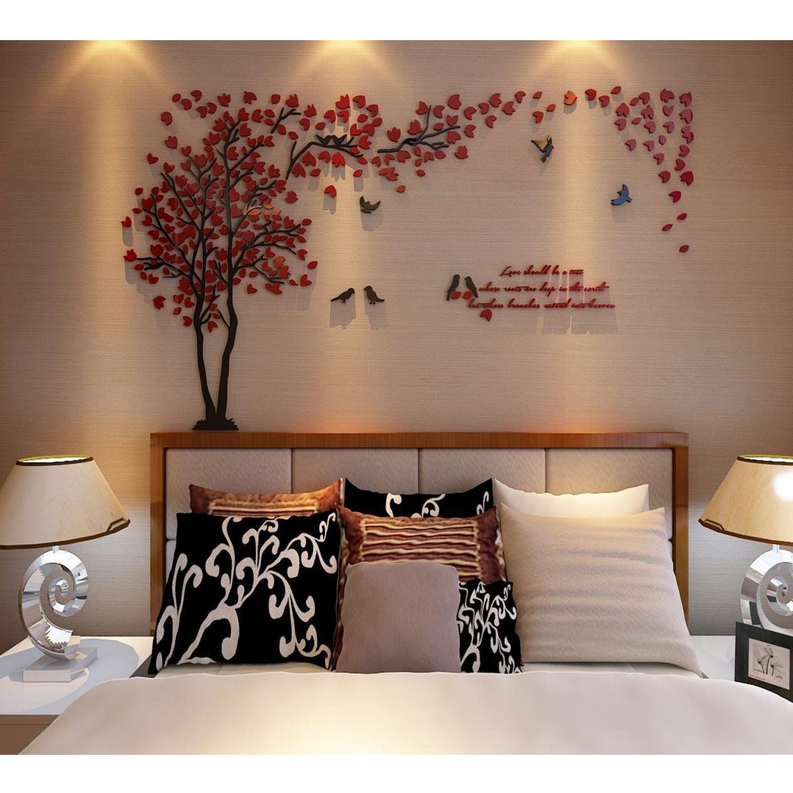 ... 3D DIY Creative Couple Tree Decal Wall Sticker Removable Art Mural Room  Décor ...
