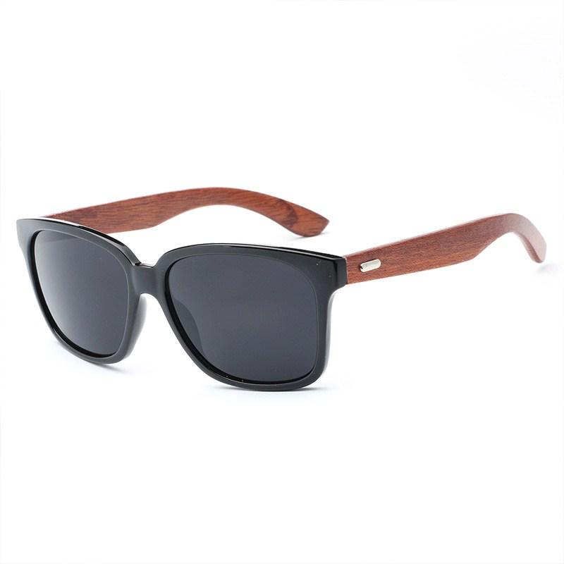 polarized wood frame sunglasses men women 039 s - Wood Framed Sunglasses