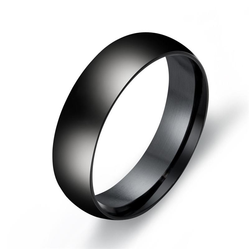3mm Gold//Black//Silver Band Men/'s Women/'s Titanium Steel Engagement Ring Size 4-8