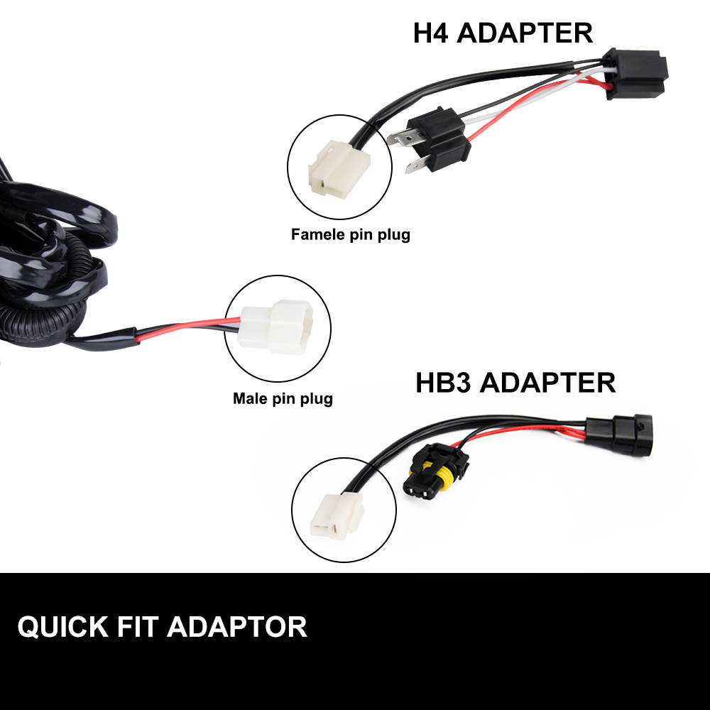 Led Wiring Loom Harness Kits 12v 40a Relay Kit Plug Quick Adaptor Wire Product Highlights Txl Automotive Wires