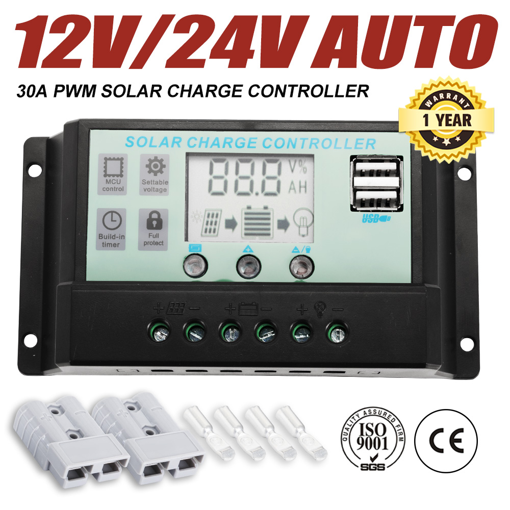 Details About 30a 12v 24v Lcd Display Pwm Solar Panel Regulator Charge Controller Timer Pwn Dc Voltage Circuit Smart Item Description
