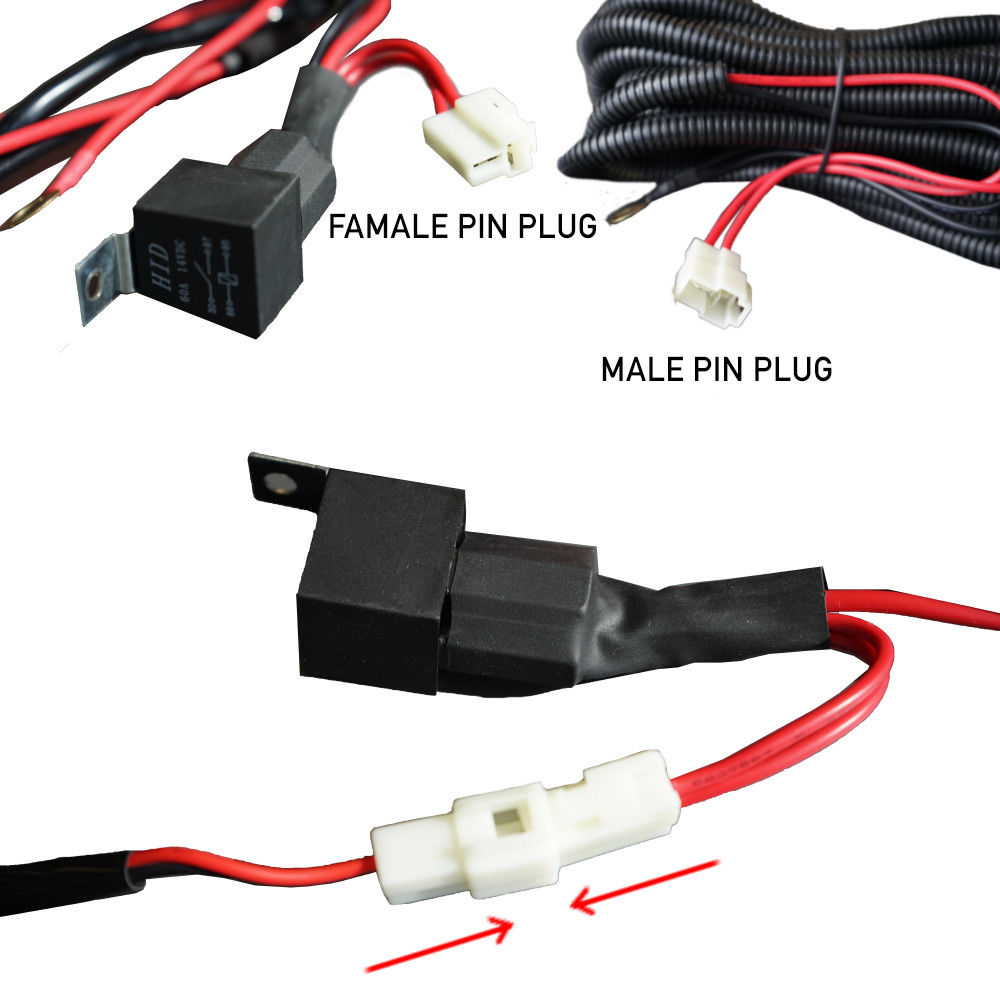 led light wiring loom harness relay kit driving lamp plug. Black Bedroom Furniture Sets. Home Design Ideas