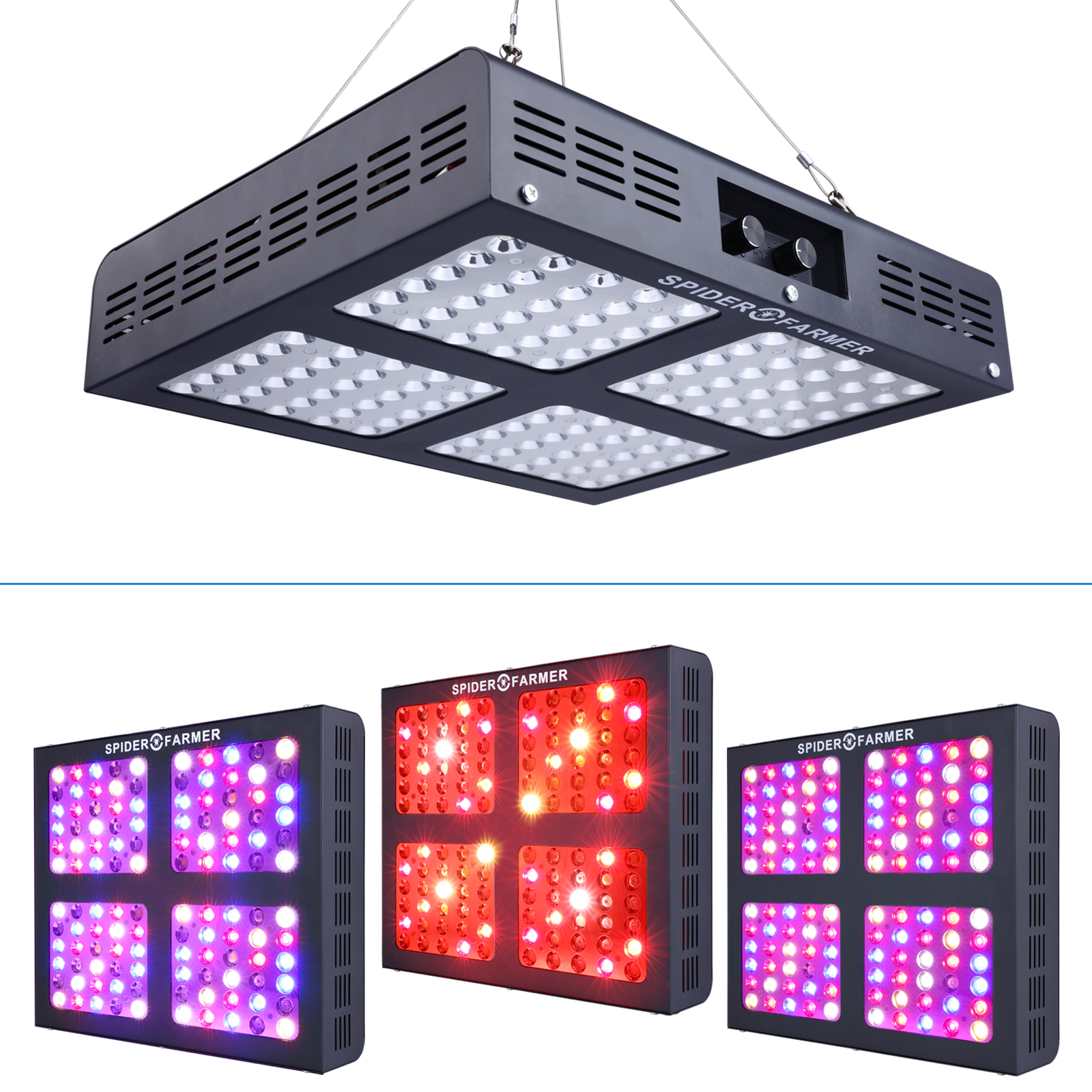 Spider Famer 1200w Dimmable Led Grow Lights Full Spectrum