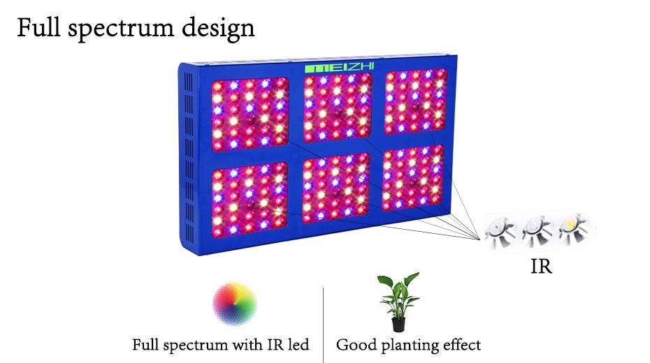 Meizhi 900w Led Grow Light Full Spectrum For Indoor Plants