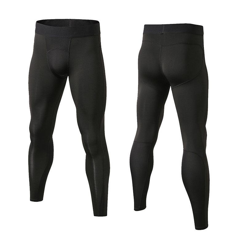 Mens-Running-Basketball-Tights-Workout-Skin-Compression-Long-Pants-Elastic-Waist