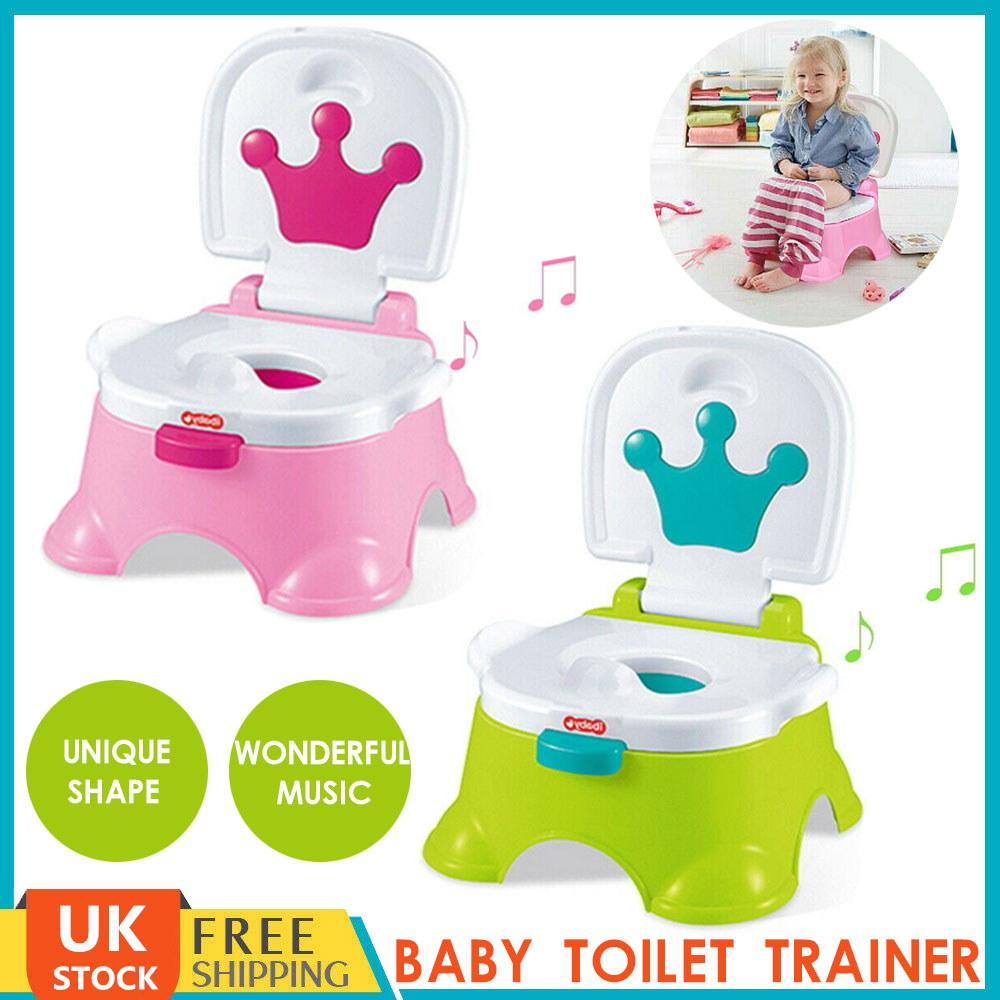 BABY TOILET TRAINER CHILD TODDLER POTTY TRAINING SEAT CHAIR PLASTIC LOO URINAL