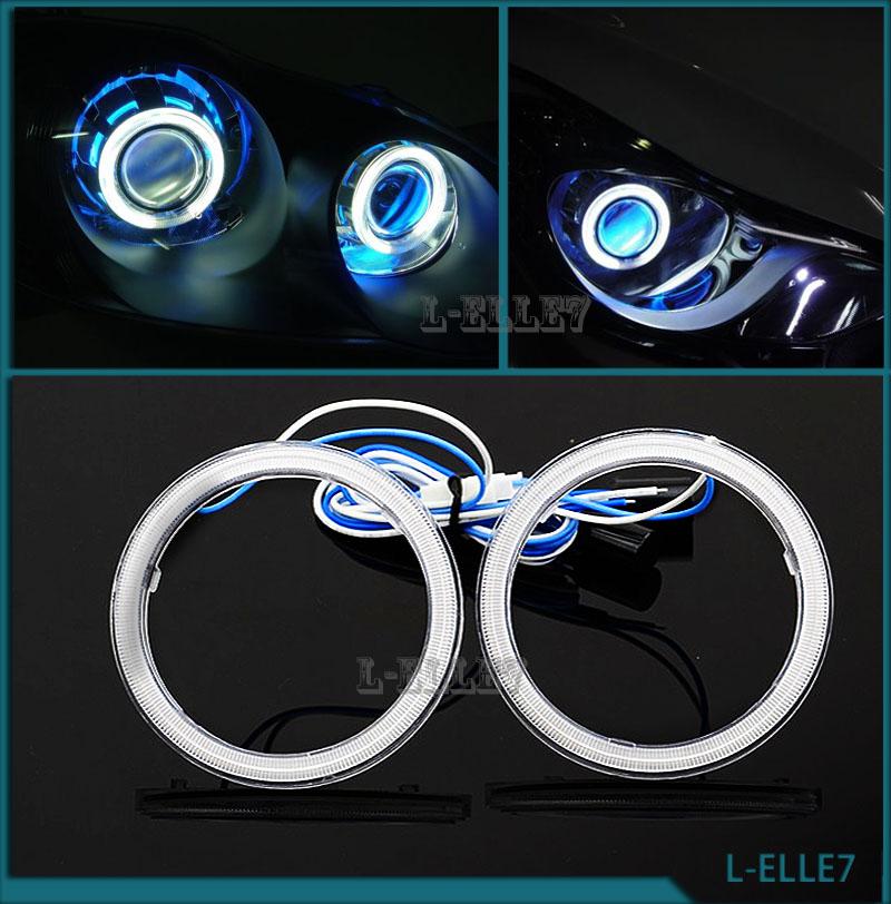 100/% Waterproof 70MM DRL Motor Car Daytime Running Angel Eye Ring Halo LED Light