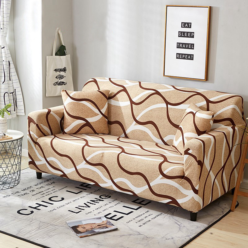 Rectangle Stretch Elastic Fabric Sofa Cover Sectional