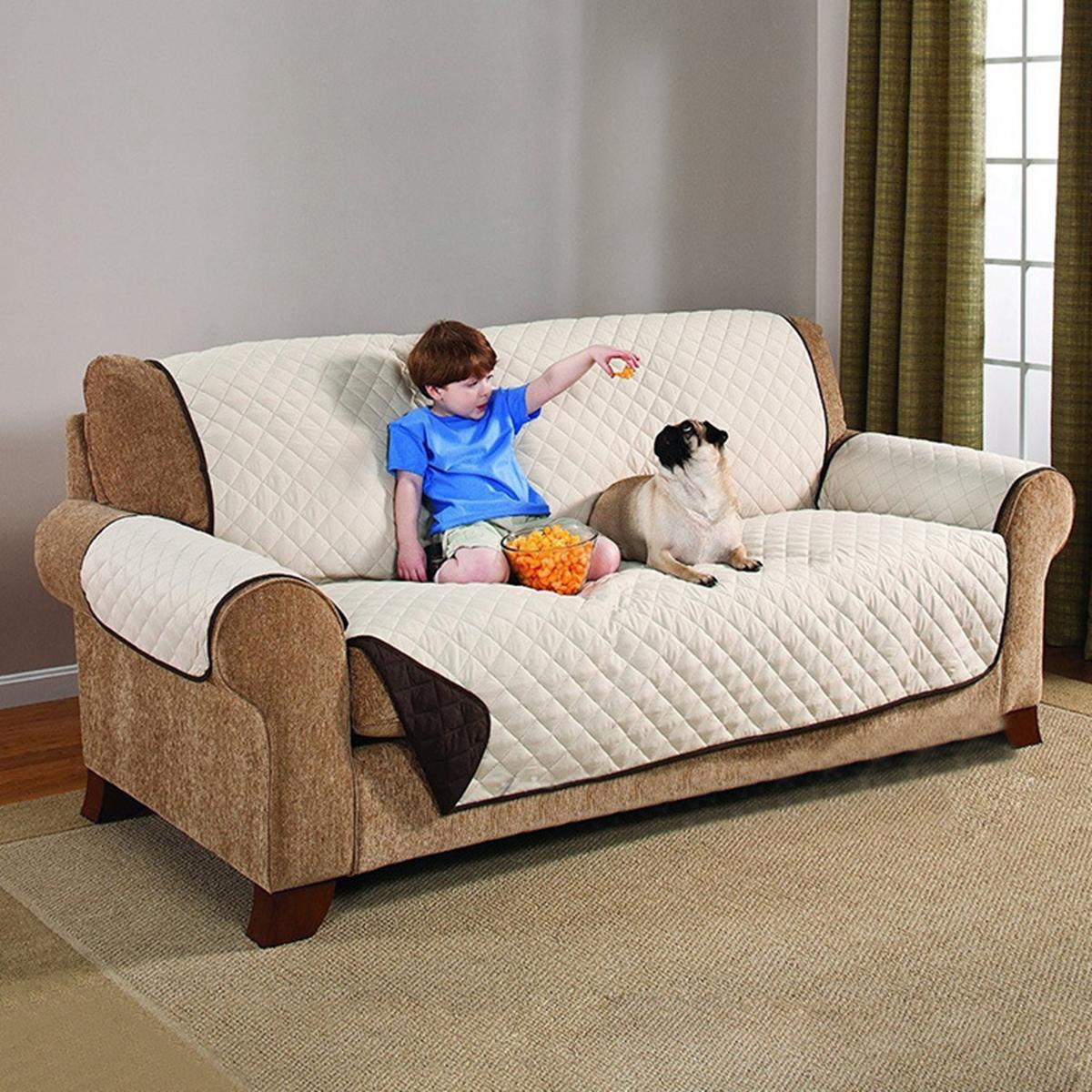 Quilted Waterproof Sofa Slip Cover, Anti Slip Pet