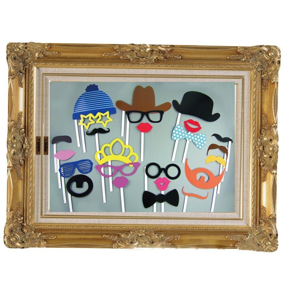 Groß Bilderrahmen Fotostand Requisiten auf einem Stab Maske ...
