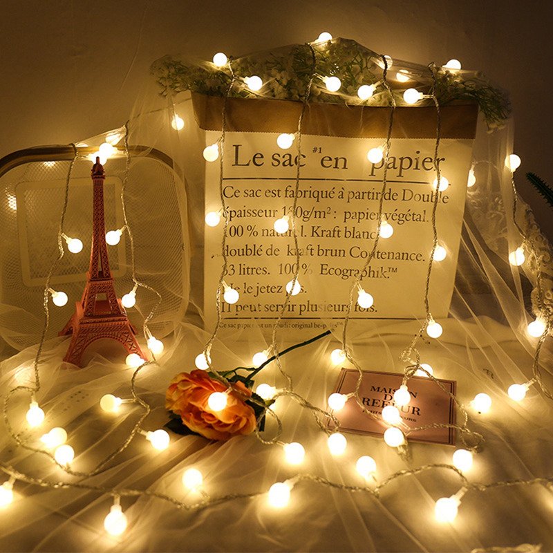 Led Christmas Lights Strings Warm White Wedding Decor Room Xmas Ornaments