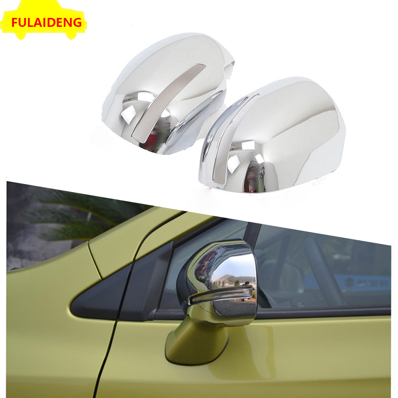 E170 For Toyota Corolla 2013-2015 2PCS ABS Rearview Mirror Cover Strip Trim