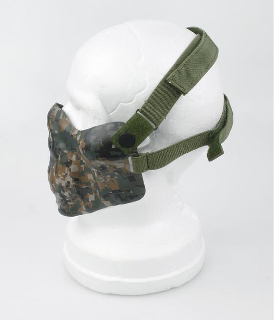 TMC Schwarz PDW Halbe Gesichts taktische schützende Schablone Weiche Seite Maske