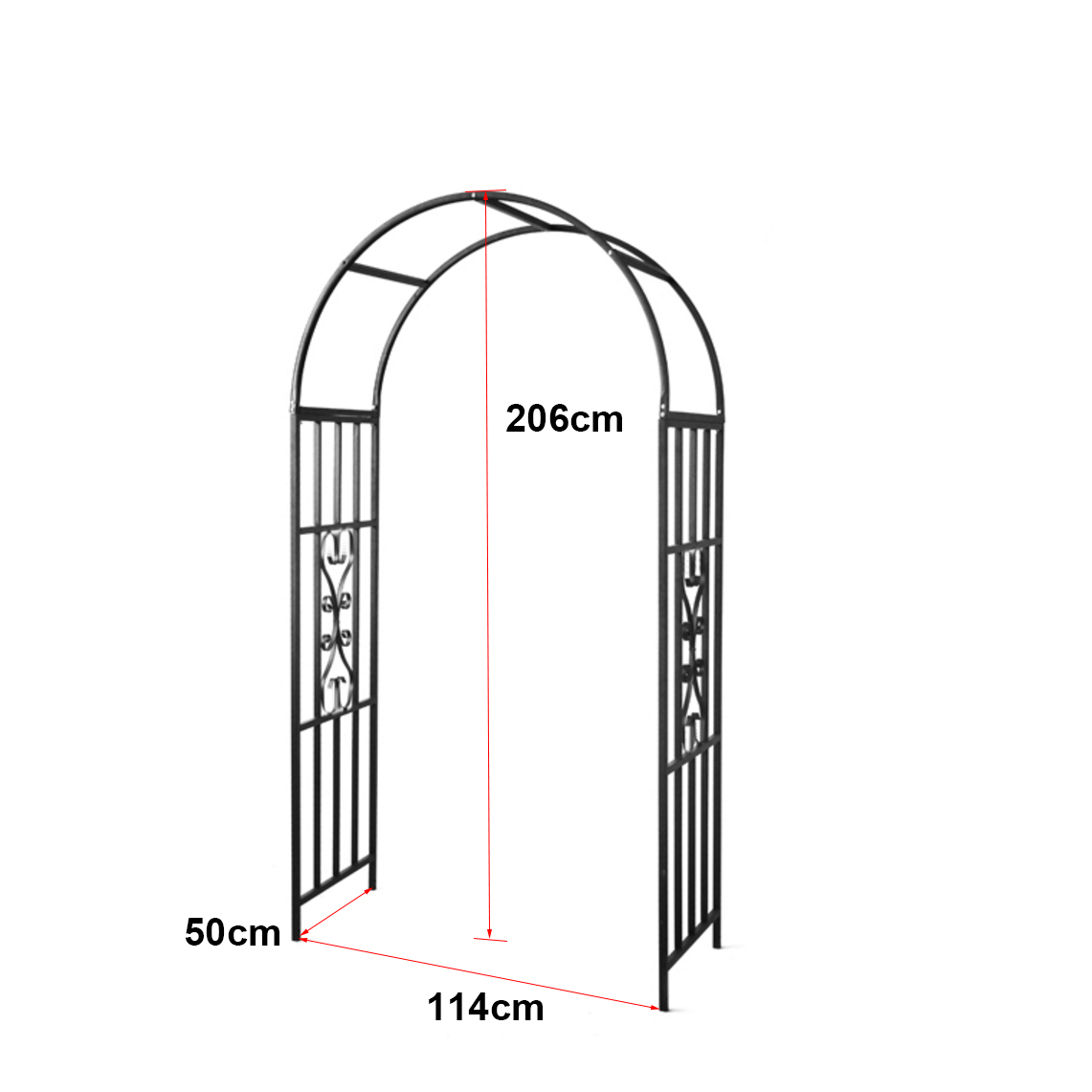 Garden Wedding Metal Arch Plant Climbing Stand Frame Outdoor Arbour ...