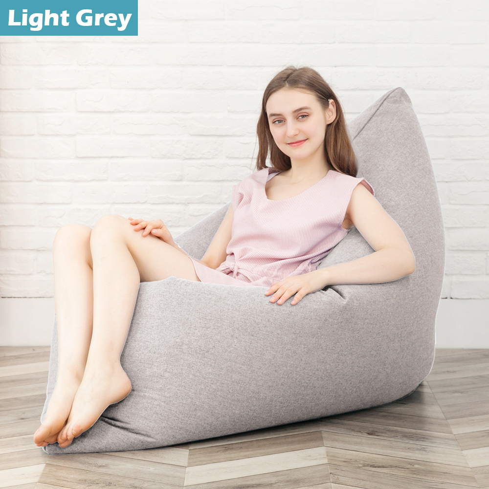 Lazy Single Bean Bag Chairs Bed For Kids Sitting Couch Sofa Cover Indoor Lounge Ebay