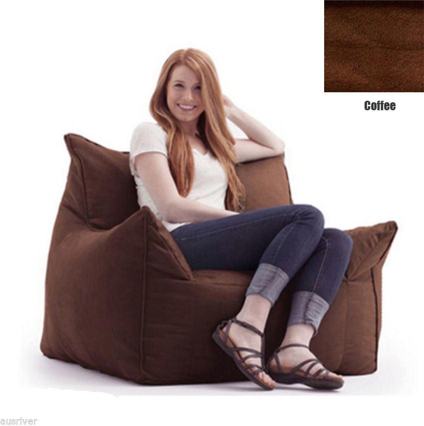 Details about Brand New Suede Bean Bag Sofa Armchair Living Room Furniture  Beanbag Cover
