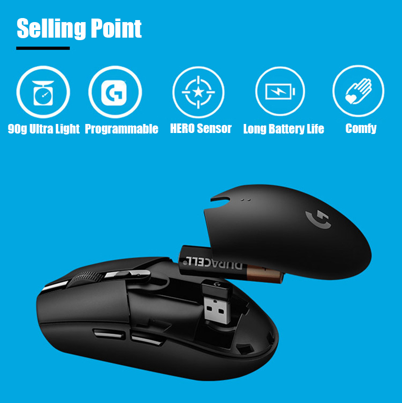 Logitech G305 G304 Wireless Gaming Mouse 6 Programmable
