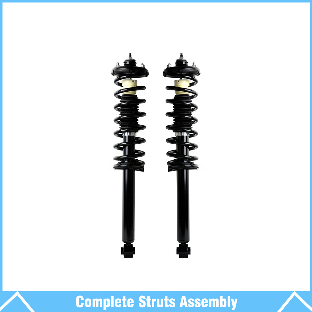Pair Rear Shocks Struts & Springs Assembly Set For 03-07