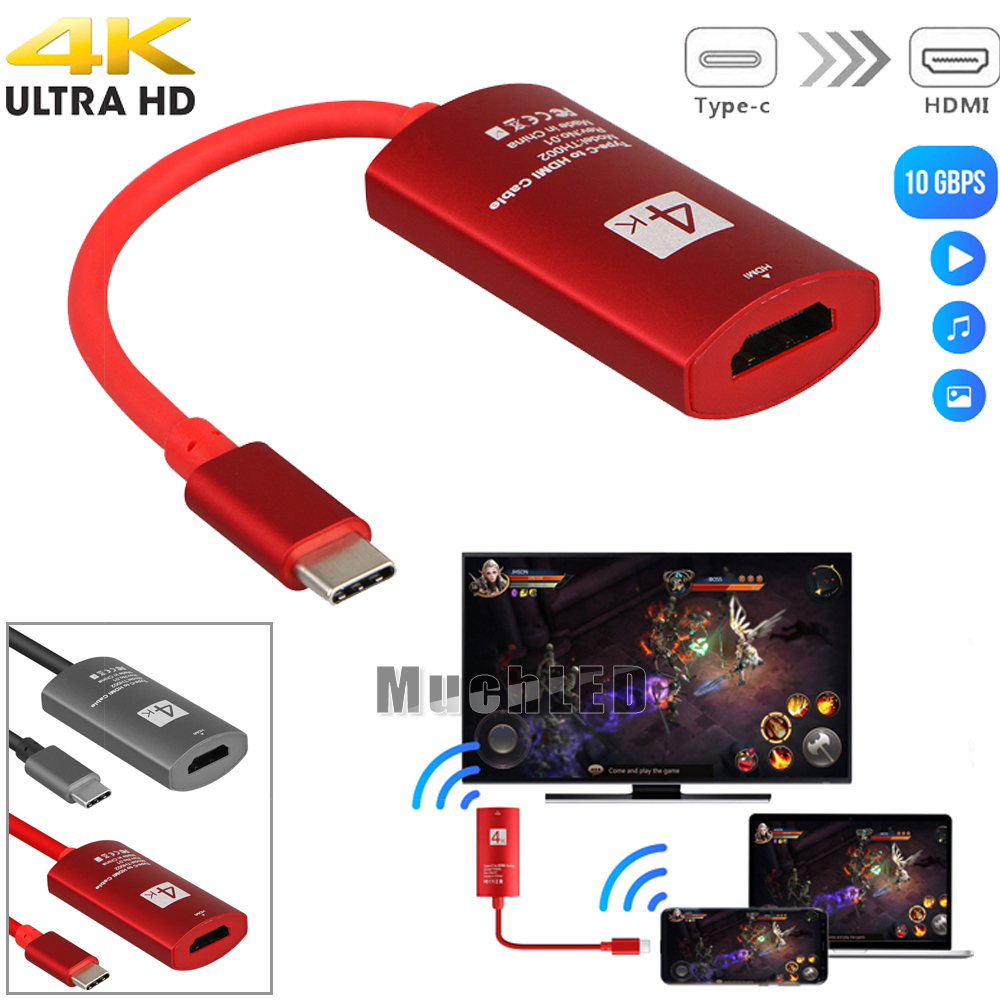 S8 USB 3.1 Type-C to HDMI Adapter 4K*2K UltraHD For Samsung Galaxy S9 Plus S9