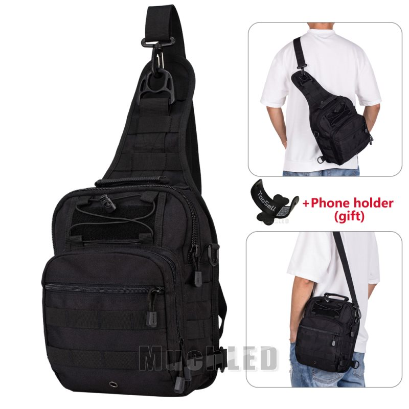 Men/'s Military Nylon Chest Cycle Sling Satchel Shoulder Bag Small Day Pack Purse